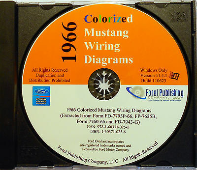 1966 COLORIZED MUSTANG Wiring Diagrams (CD-ROM) - $1695 PicClick