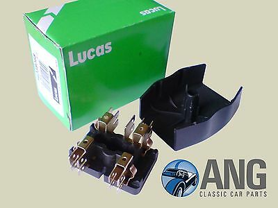 GENUINE LUCAS 54038068 4Fj 2 Way Glass Fuse Box Holder Triumph Mgb