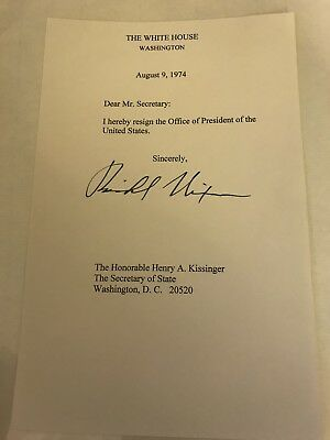 PRESIDENT Richard Nixon Hand Signed Typed Letter - $52500 PicClick