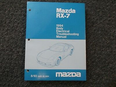 1994 MAZDA RX7 Turbo Factory Electrical Wiring Diagram Body Shop