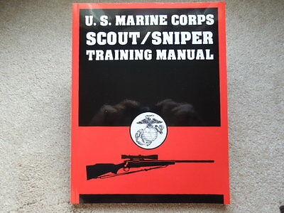 US MARINE CORPS Scout/Sniper Training Book 183 pages NEW 1994