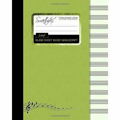 BLANK SHEET MUSIC Manuscript Staff Paper Musicians Notebook 12 S
