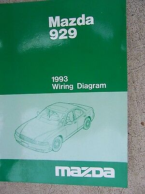 1988 MAZDA 929 Auto Wiring Diagram Manual Vehicle Schematic Electric
