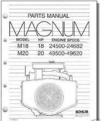 KOHLER MAGNUM ENGINE Models M18 18Hp  M20 20Hp Parts Manual