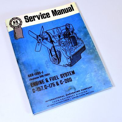 SERVICE SHOP REPAIR Manual 454 464 484 International Farmall Tractor