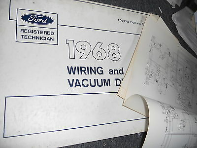 1969 FORD WIRING And Vacuum Diagrams Falcon,Fairlane And Montego