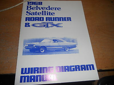 1968 PLYMOUTH BELVEDERE GTX Road Runner Illustrated Facts Manual 68