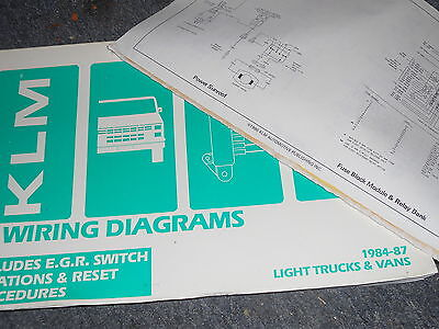 1984 1985 1986 Toyota Pickup Truck Wiring Diagrams Schematics Sheets