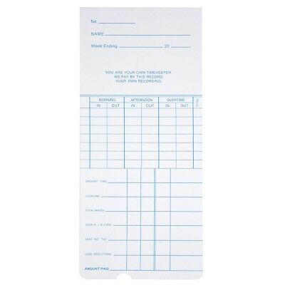 50X MONTHLY TIME Clock Cards Timecard for Employee Attendance