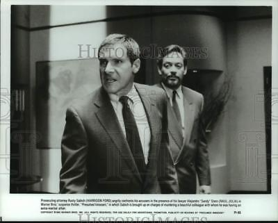 1990 PRESS PHOTO Harrison Ford and Raul Julia in \