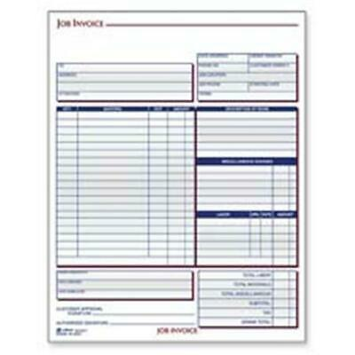 JOB INVOICE UNIT Set Carbonless 100 Pack Receipt Forms Shop