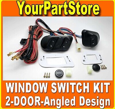 1 SET UNIVERSAL POWER WINDOW SWITCH  WIRING KIT For 4 DOORS 7