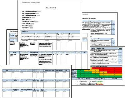 UNIVERSAL RISK ASSESSMENT + Method Statement Template - Complete