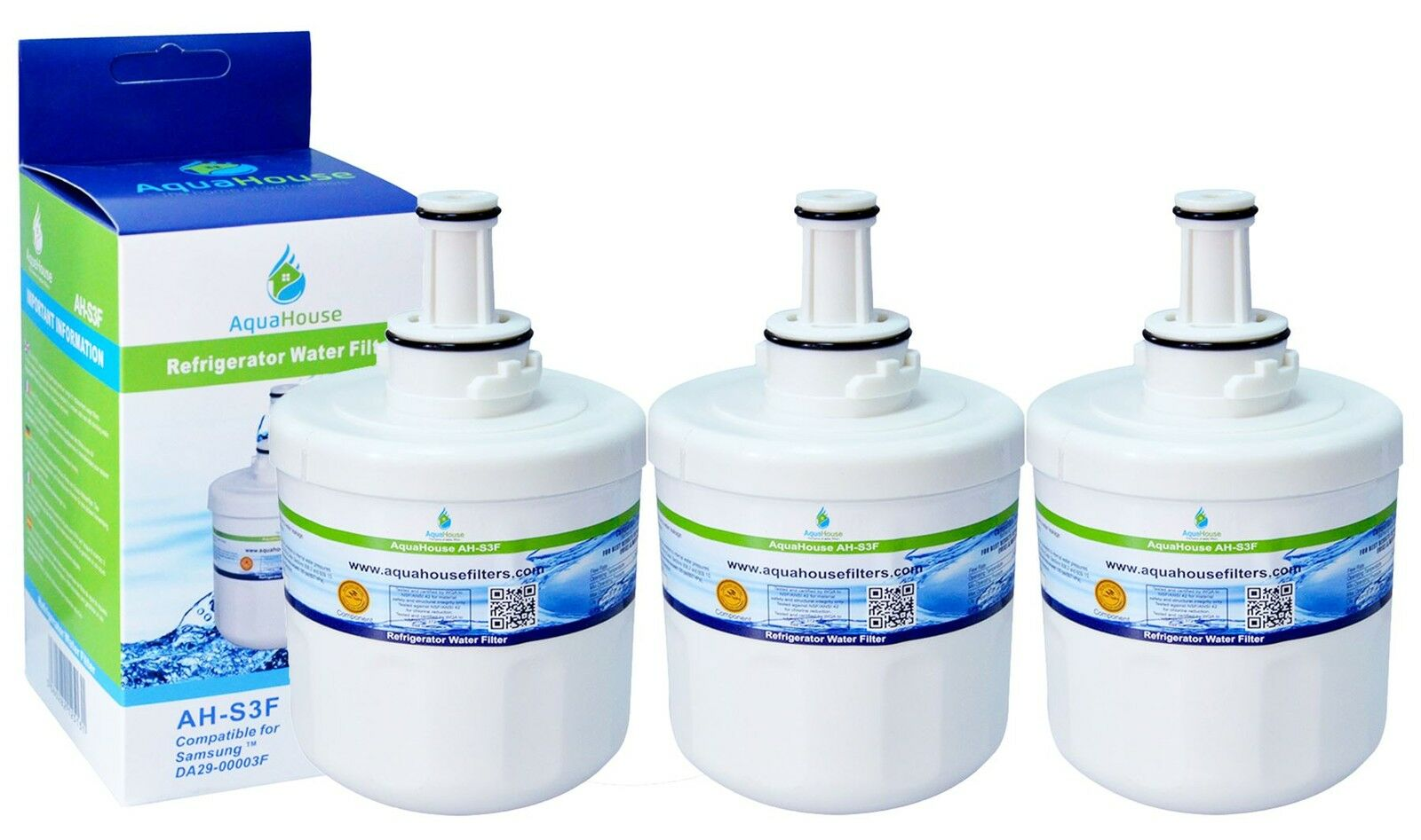 3 Compatible Da29 00003f Ice Water Fridge Filter To Fit