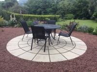 ROTUNDA CIRCLE PATIO PAVING SLABS STONES 3.46m (11ft 4in ...