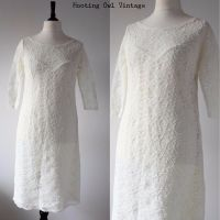 Vintage 1980S Cream Lace Evening Dress Dallas Dynasty ...