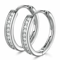 18K White Gold Diamond Hoop Earrings 274  17.99 ...