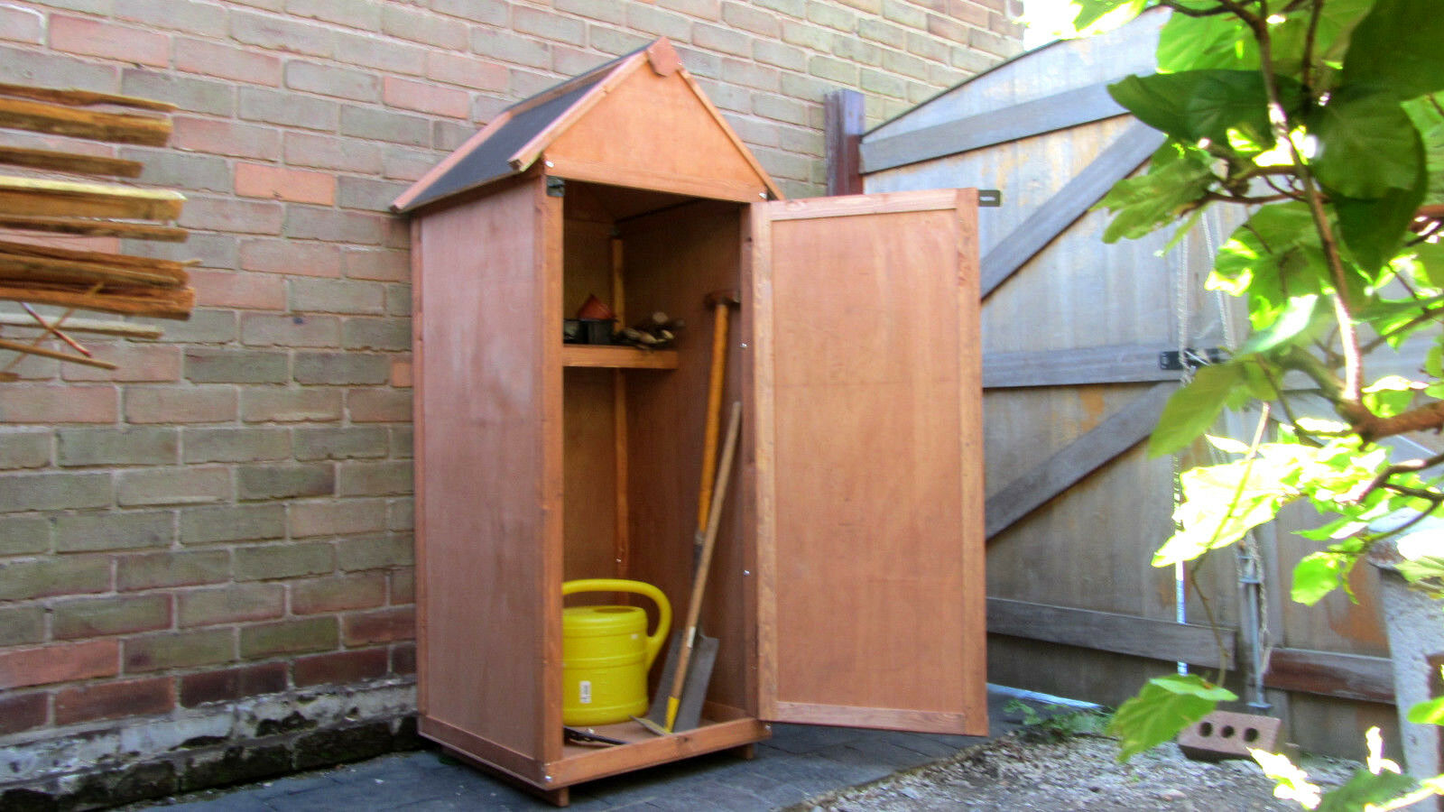 Small Wooden Garden Patio Shed Tool Store Storage O 7999