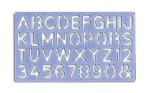 PLASTIC LETTERING Stencil Kit Letters  Numbers Alphabet 5mm to 30mm