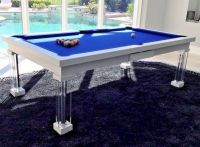 8' VISION CONVERTIBLE MODERN POOL BILLIARD TABLE dining ...