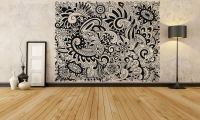 WALL ROOM DECOR Art Vinyl Sticker Mural Decal Doodle ...