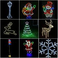LARGE IN / Outdoor Christmas Garden Rope Light Xmas Lights