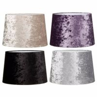 DUAL PURPOSE Fabric Crushed Velvet Light Shade/ lampshade ...