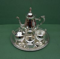 VINTAGE SILVER PLATED Tea Set and Tray - 37.00 | PicClick UK