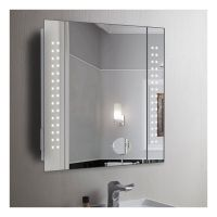 60 X LED Illuminated Bathroom Mirror Cabinet Shaver ...