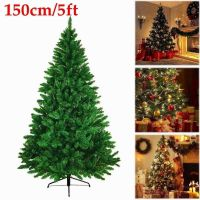 5FT ARTIFICIAL Christmas Tree Green Pine Metal Stand Santa ...