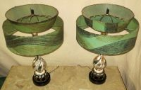 PAIR Vintage Retro Mid Century Atomic Era Table Lamp / 2 ...