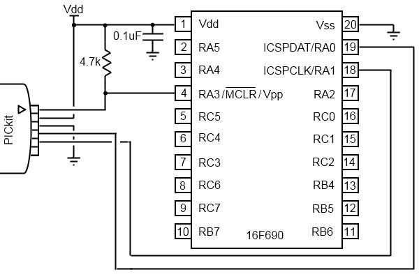 picaxe18 programmer protoboard schematic