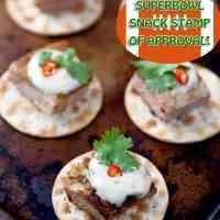 Thai Pork Chop Crackers with Chili-Lime Mayonnaise