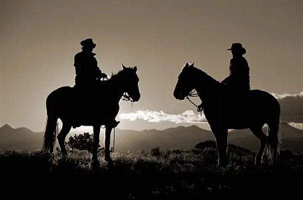 2cowboysilhouettesIIImono