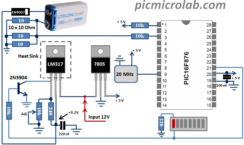 Circuit Diagram Of 9v Battery Charger Wiring Schematic Diagram