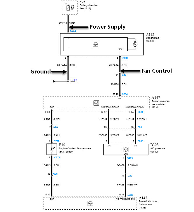 2009 Ford Focus Cooling Fan Wiring Diagram Wiring Schematic Diagram
