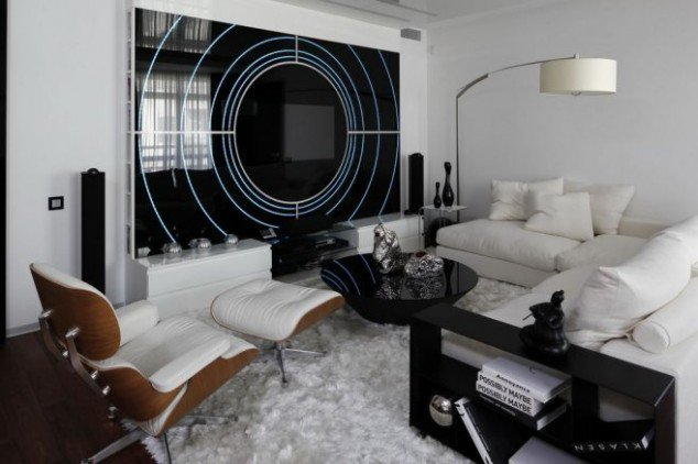 Modern Contemporary Inspire Black And White Living Room Design Pics - black and white living rooms