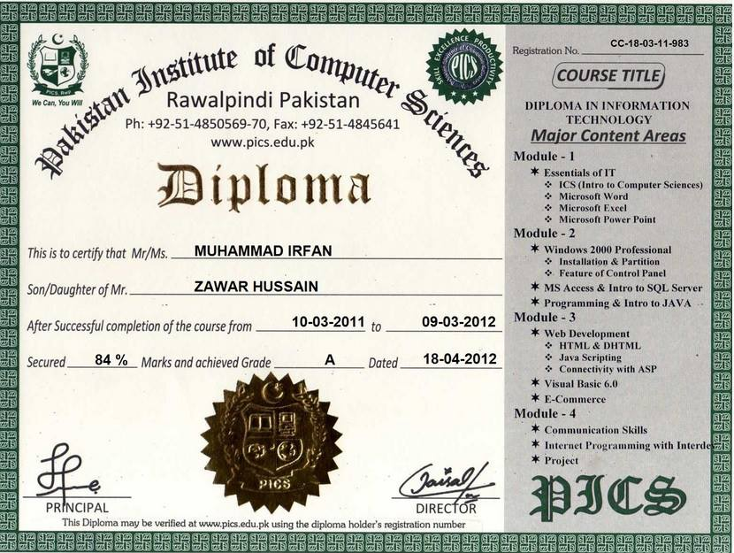 Pakistan Institute of Computer Sciences, Free Online Certification