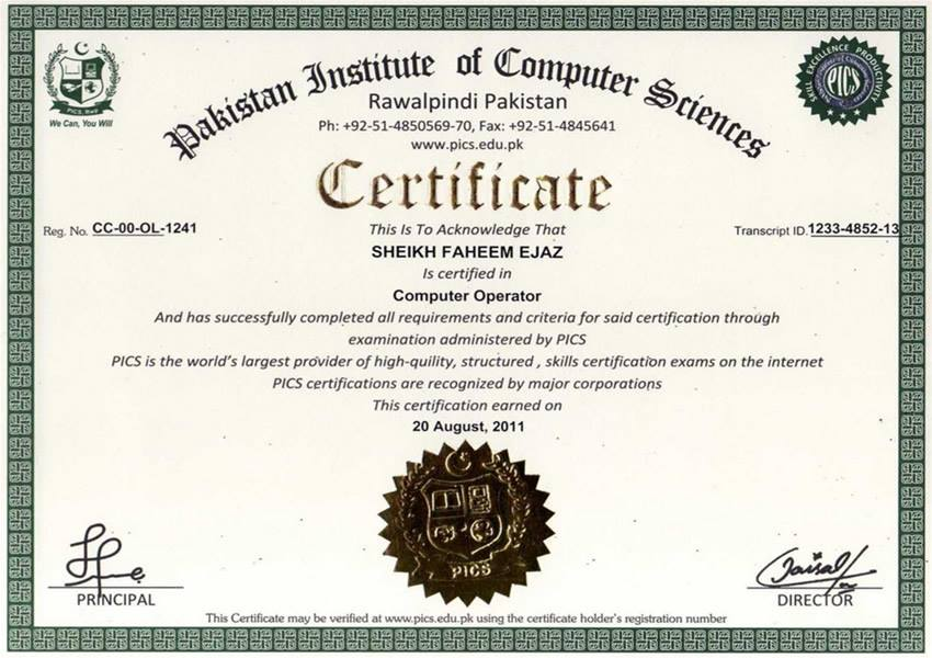 Pakistan Institute Of Computer Sciences Free Online