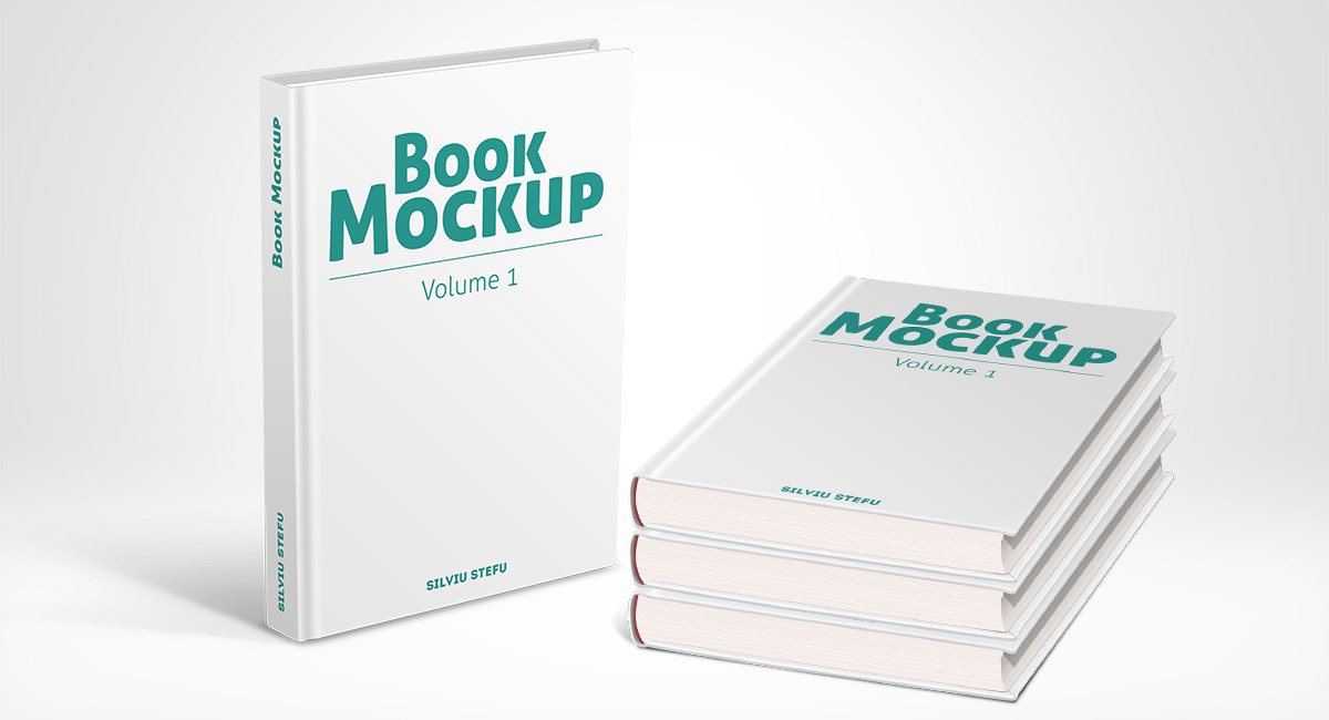 Hardcover book mockups - volume 1 - Picseel Picseel