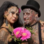 THE MOST BODY MODIFICATIONS COUPLE