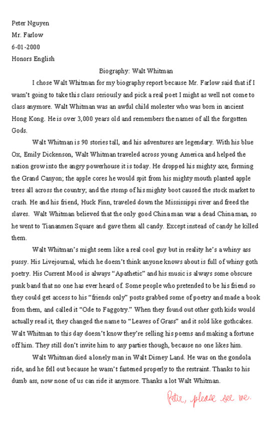 Effects Of Motivation On Employee Performance A Case Walt Whitman Biography Report Really Funny Pictures