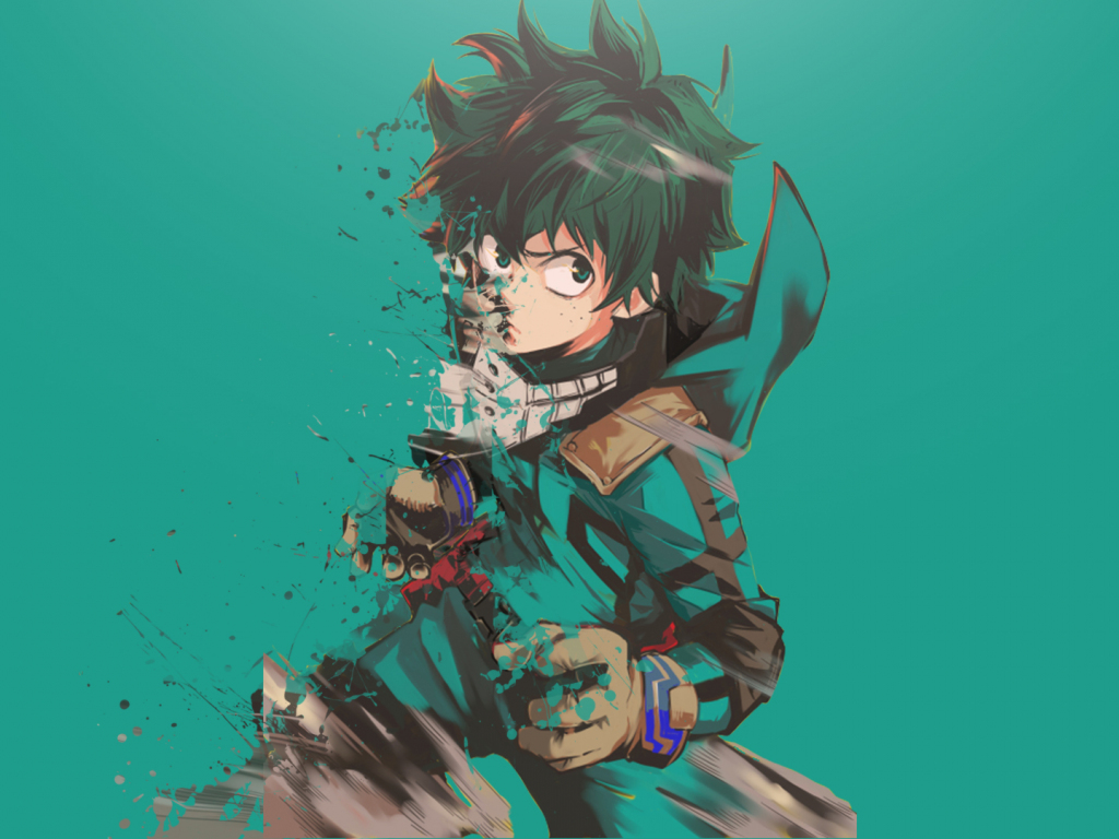 My Hero Academia Wallpaper Iphone X Desktop Wallpaper Izuku Midoriya Minimal Anime Boy My
