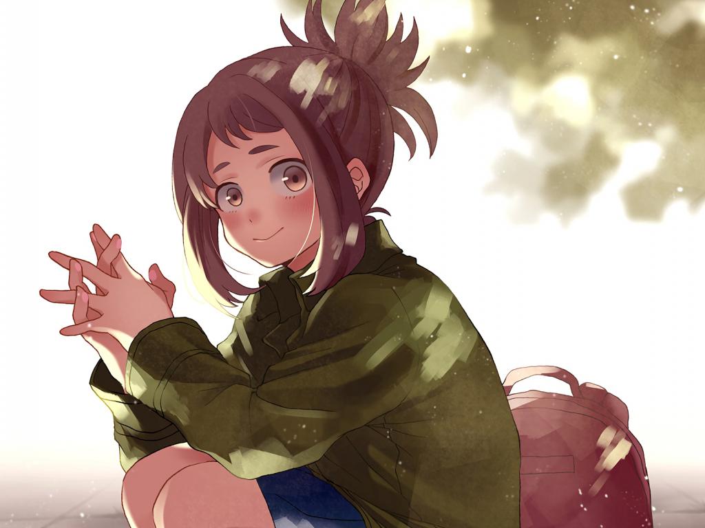 Cute Baby Girl Wallpaper For Desktop Full Screen Desktop Wallpaper Cute Anime Girl Ochako Uraraka Boku