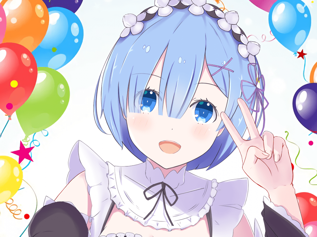 Re Zero Iphone Wallpaper Anime Girl Rem Re Zero Blue Hair Anime Girl Wallpaper