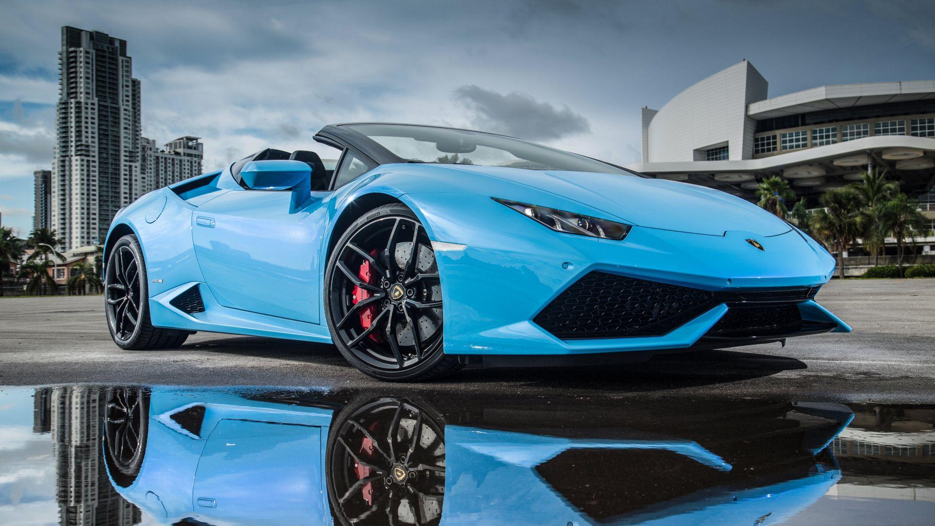 Top Car Wallpapers For Android Desktop Wallpaper Lamborghini Huracan Blue Sports Car 4k