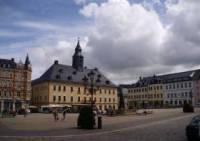Annaberg Buchholz 02 der Marktplatz mit dem Annaberger Rathaus
