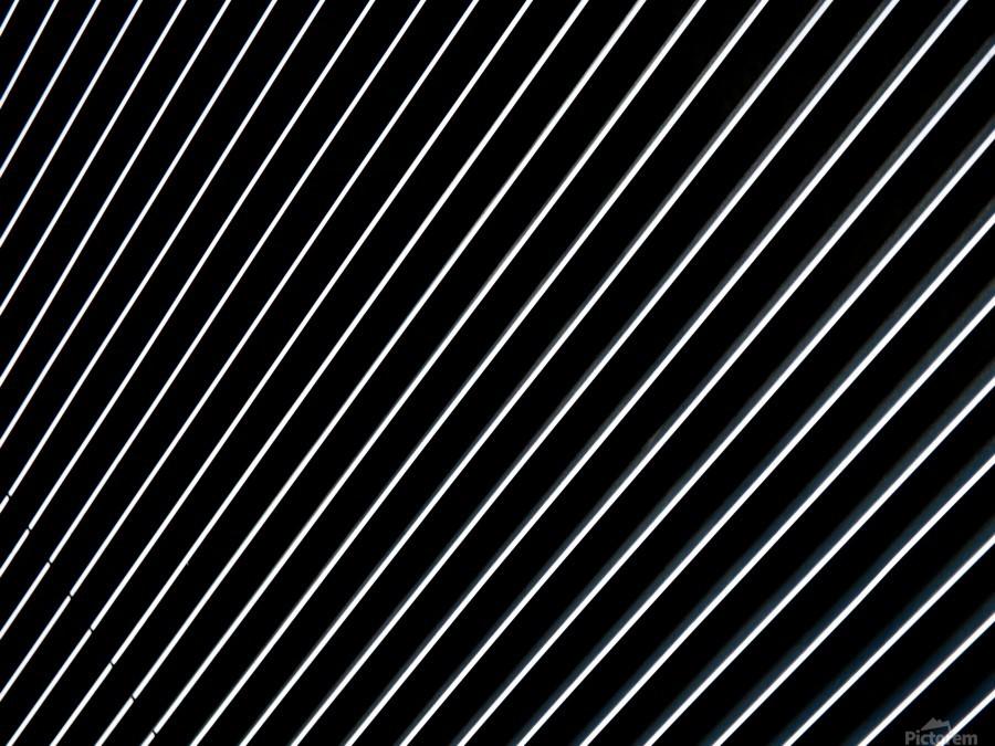 Shiny metal lines on the dark background - CiddiBiri Canvas