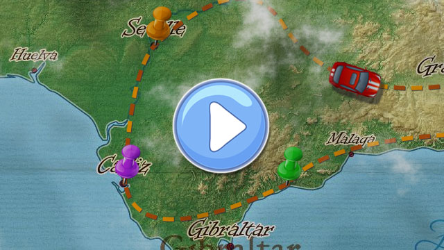 Animated Travel Maps - created with PictraMap - animated maps