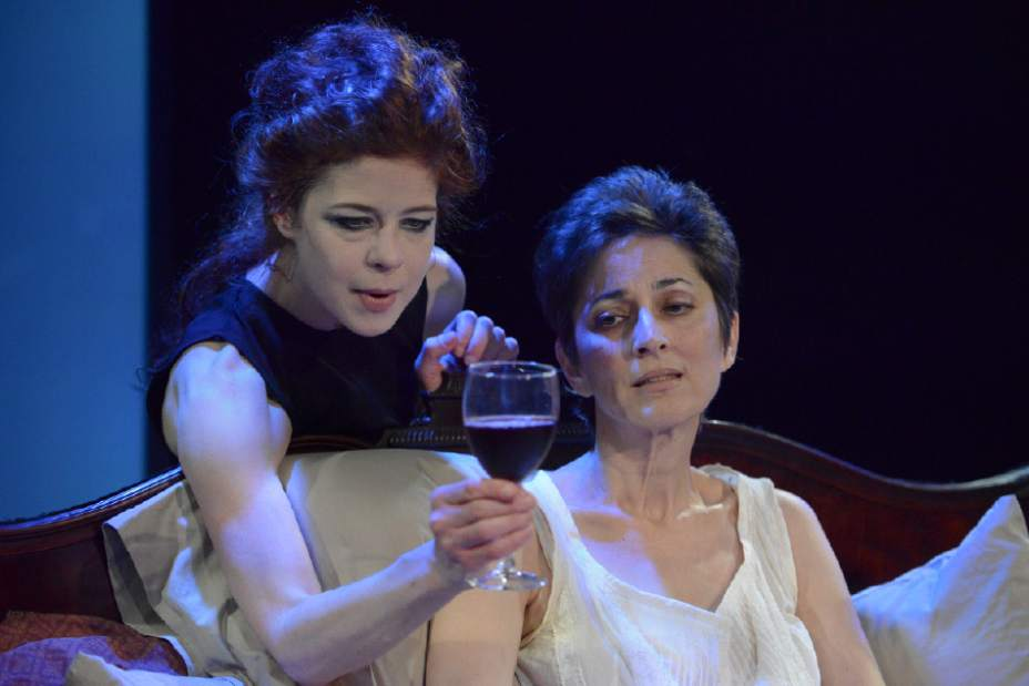 Karen Baum and Nike Doukas in Marina Carr's Woman and Scarecrow at PICT Classic Theatre. Photo by Jasmine Goldband.